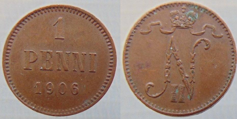 1 Penni 1906 (cobre)