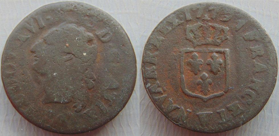 França Louis XVI. 1774-1793 1 Liard W 1779