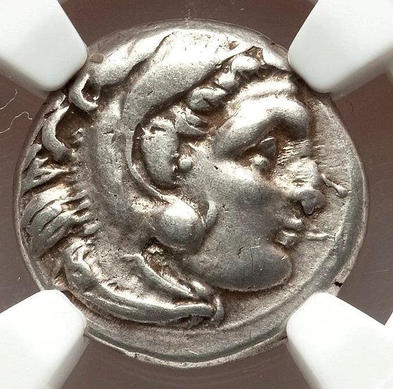 Moeda Grega Dracma de Alexandre III O Grande (336-323 aC) Certif. NGC