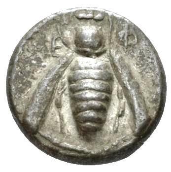 Moeda Grega Rara Dracma Ionia, Ephesus (340-330)