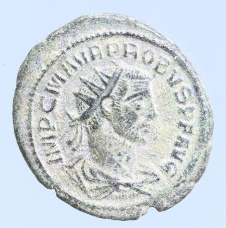 Moeda romana de Probus Æ Radiate. Antioch, AD 276-282.