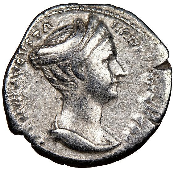 Moeda Romana Escassa de Sabina (128-137 dC). Certificada NGC.