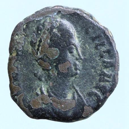 Moeda Romana Aelia Flaccilla 379-383, AE4