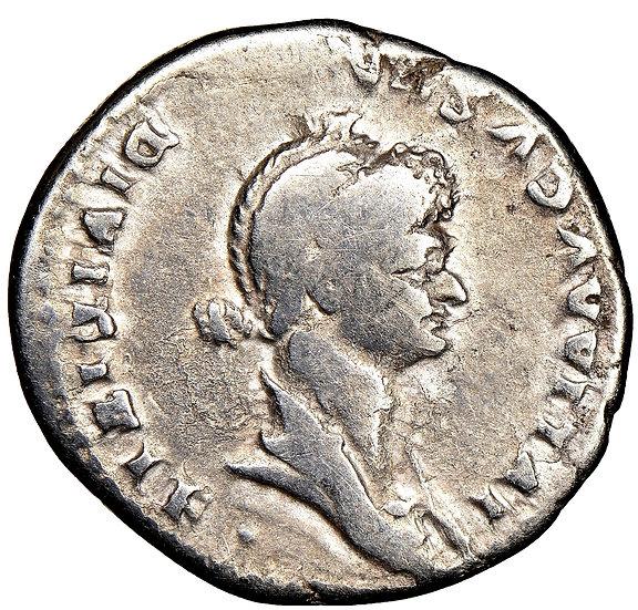 RARA Moeda Romana Provincial Cistophorus de Julia Titi (ca. 79-90 / 1 dC)