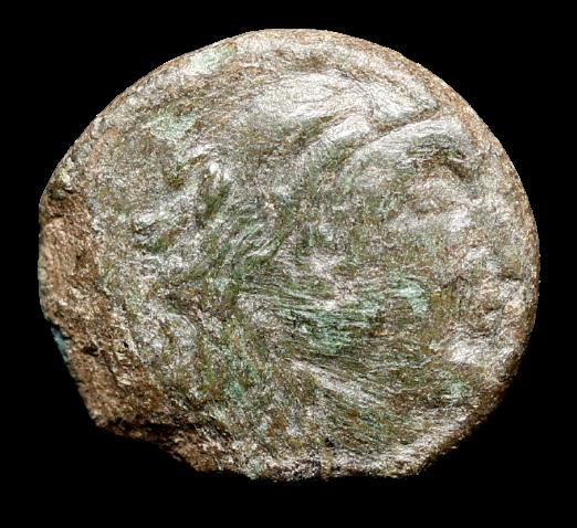 Moeda grega escassa da Trácia (em nome de Odrysianos) (circa 340 aC).