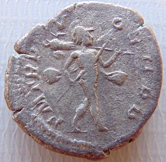 Moeda Romana Denário de Severus Alexander 227dC - Remerso Mars