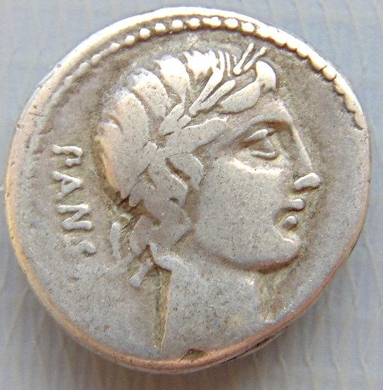 Moeda Romana Rara Denário De Vibius Pansa (90 aC)