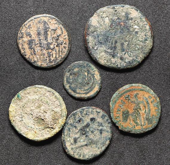 Lote de 5 moedas romanas low grade para classificação!
