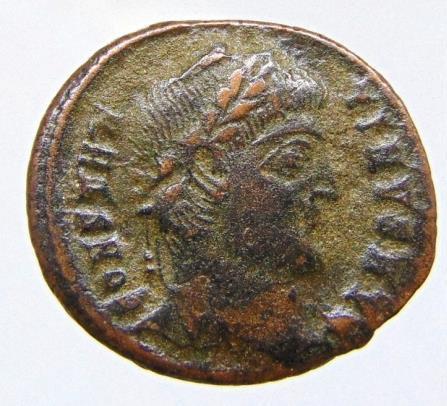 Constantine I Æ Nummus. Cyzicus, AD 327-328