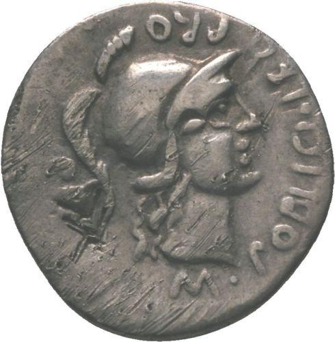 Moeda Romana Rara Denário De Pompeu Magno 46 aC