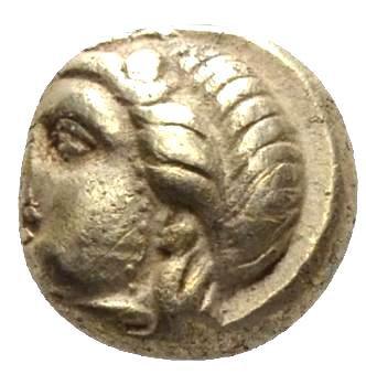 Moeda Grega Electrum (El Hekte) da Ionia, Phocaea (477-388 aC).