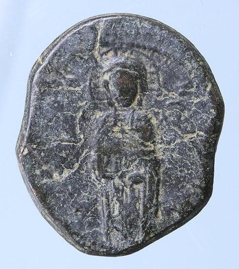 Moeda Bizantina com Cristo Época de Miguel IV (1034 - 1041 dC).