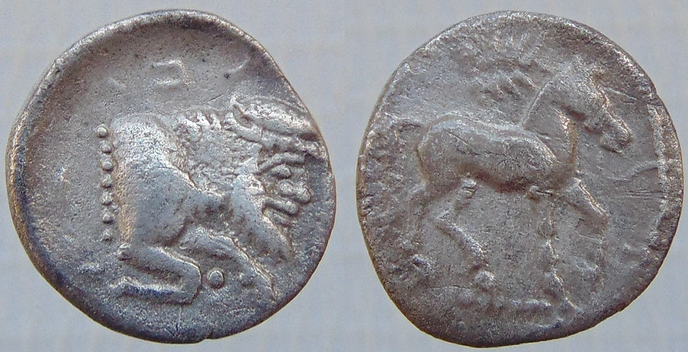 Rara moeda grega GELA - SICILIA, Gela- 430-425aC