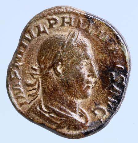 Moeda romana Philip I, 244-249 AD, Sestertius,