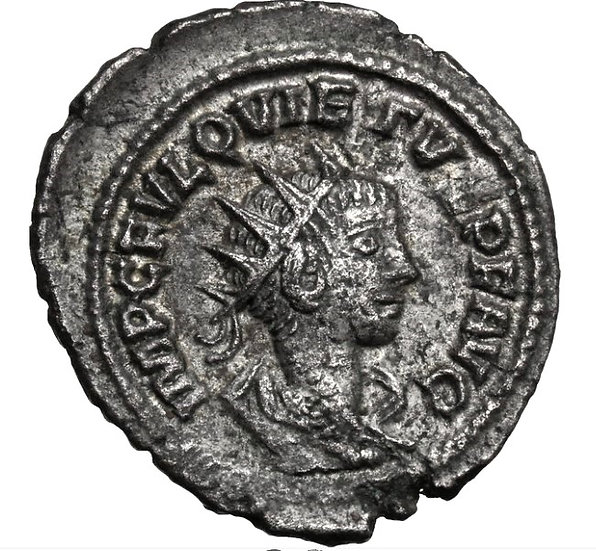 Moeda Romana Rara Quietus (Usurpador, 260-261 dC).