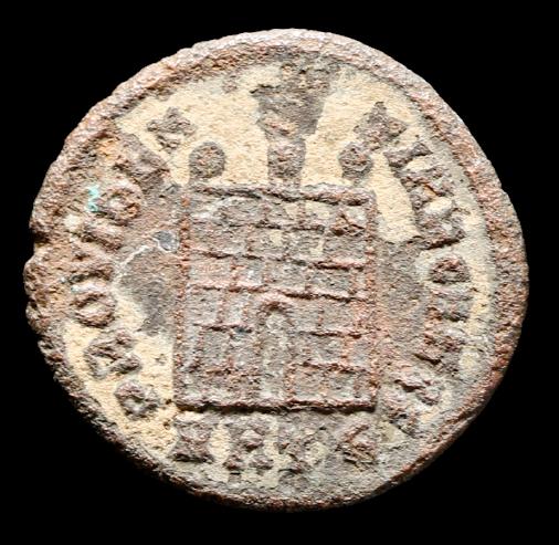 Moeda Romana Escassa de Constantino II. Como César, 317-337 dC.