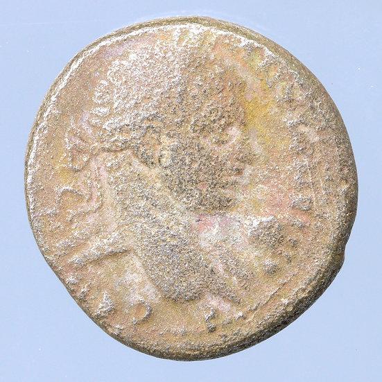 Moeda Provincial Tetradracma de Elagabalus 218 dC