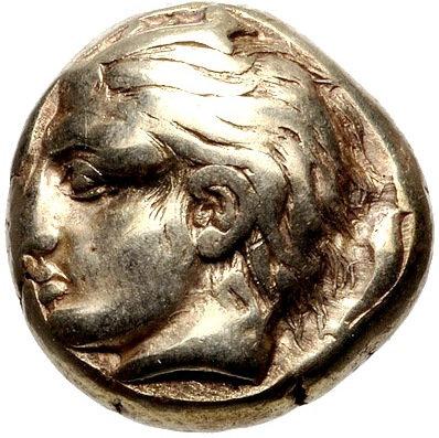 Moeda Grega Rara EL HEKTE Stater da Ionia - Phokaia 478aC
