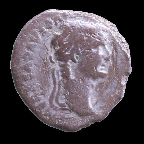 """Moeda Romana """"Denário Bíblico"""" Tribute Peny de Tiberius (14-37)."""