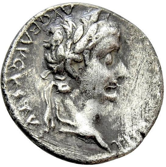 Moeda Romana de Tibério Tribute Penny 14-37 dC pré-reserva