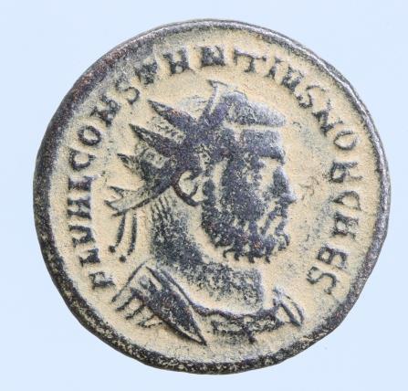 Moeda Romana Constantius I Æ Nummus. Cyzicus, AD 294-299