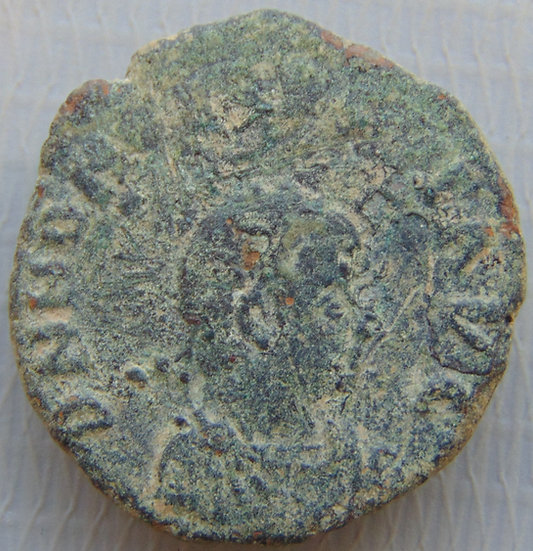 Moeda Romana Antiga Honorius - GLORIA ROMANORVM