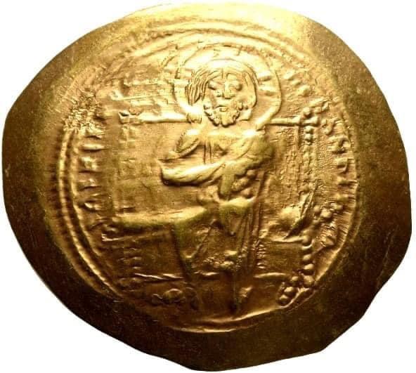 Moeda Bizantina de Ouro Histamenon de Constantine X Ducas, 1059-1067