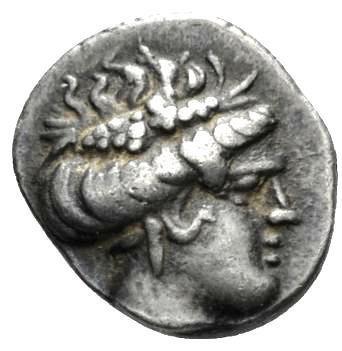 Moeda Grega Tetrobol da Euboea, Histiaia (300-200 aC)
