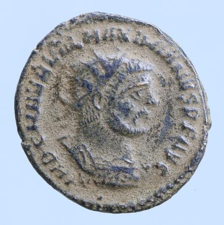 Moeda Romana Maximian Æ Antoninianus. Antioch, AD 285-295.