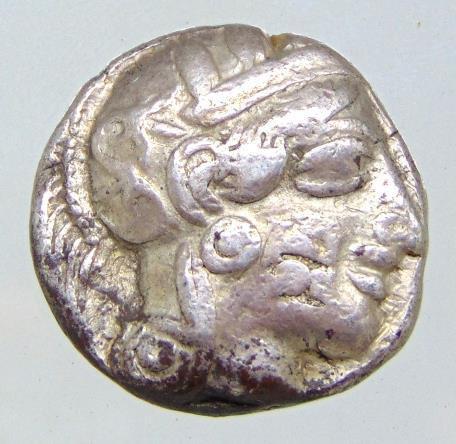 Moeda Grega de Athentas Attica 454-404 aC