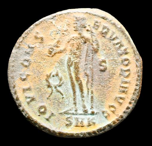 Moeda Romana de Licinius I, Cyzicus, 317-320 dC