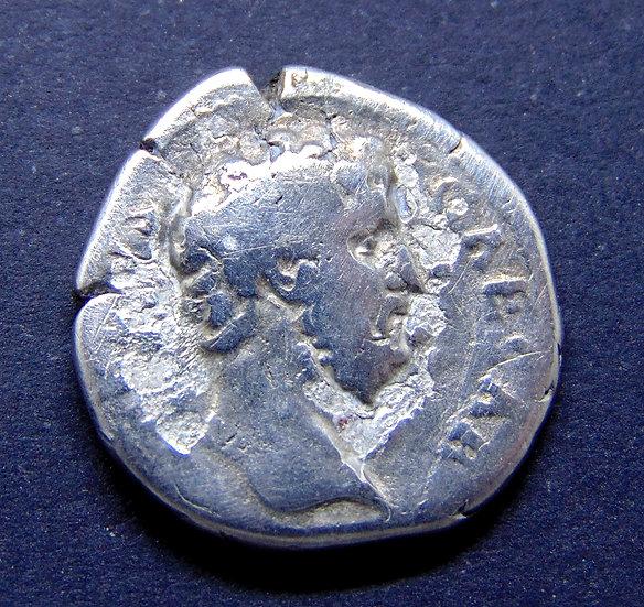 Rara Moeda romana denário de Aelius 136-138 dC