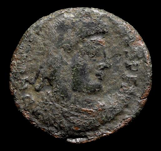 Moeda Romana de Valentinian I (364-375 dC).