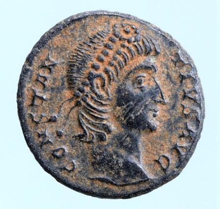 Moeda Romana Constantius II AD 337-361. Antioch Follis
