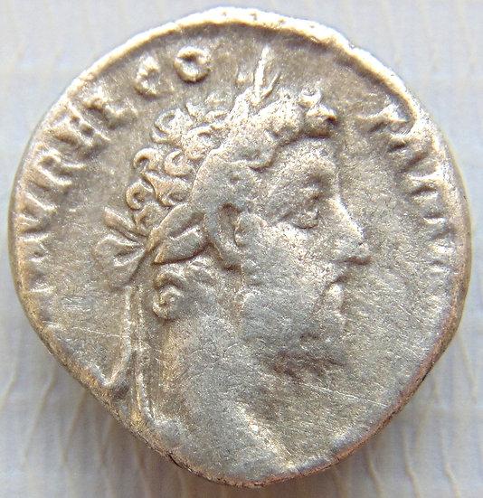 Moeda Romana Denário Raro de Commodus & Hércules