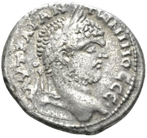 Moeda Provincial Escassa Tetradracma de Caracalla (198-217).