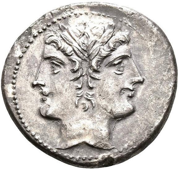 Moeda Escassa Republicana Quadrigatus 225-214 aC