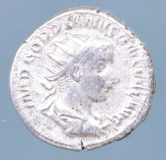 Moeda Romana Antoniniano de Gordiano III AR Antoniniano 241-243 dC