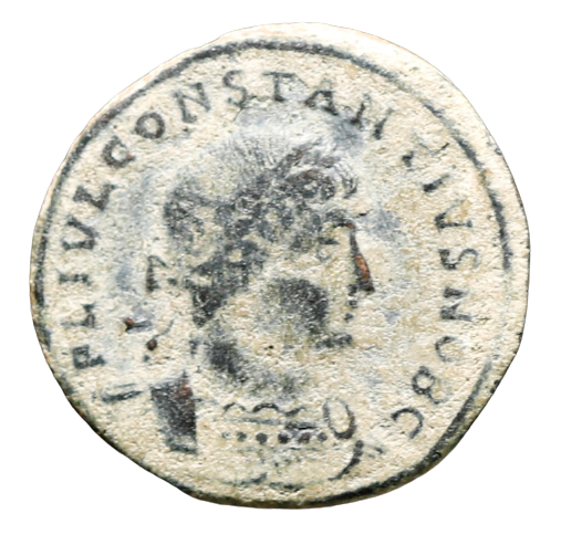 Moeda Romana Follis de Constantius II (324-337 dC).
