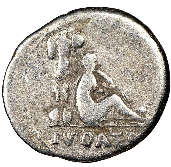 Raro denário Judaea Capta de Vespasiano (69-79) CERTIFICADO NGC!