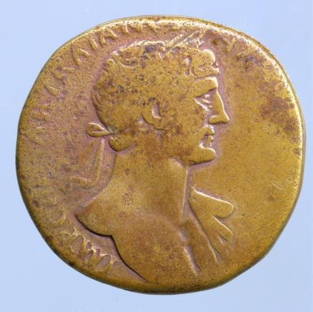 Moeda romana de Hadrian. AD 117-138. Æ Sestertius (29mm, 25,03 g).