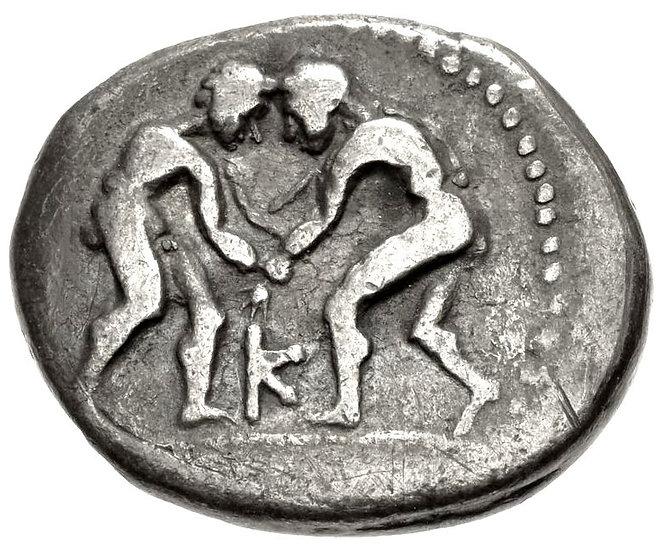 Moeda Grega Stater da Pisidia, Selge (325-250 aC).