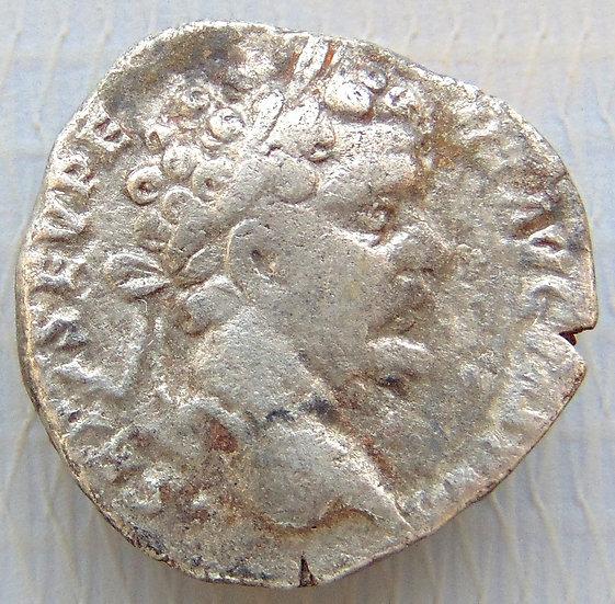 Moeda Romana Denário Septimius Severus, 193-211 dC