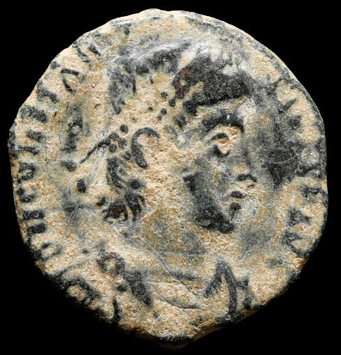 Moeda Romana de Constantius II. (337-361 dC).