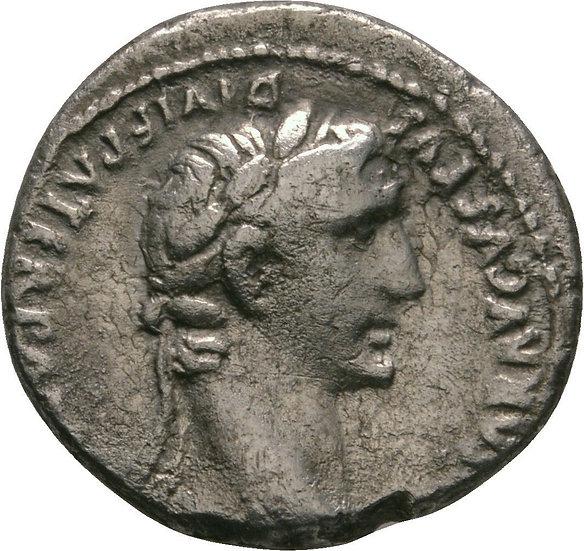 Moeda Romana Raro Denário de Augusto Augusto (27 aC-14dC)