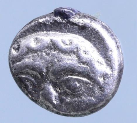 Moeda Grega Mysia, Parion AR Drachm. 5th C. BC. Gorgoneion