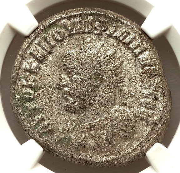 Moeda Provincial Tetradracma de Felipe I Antioquia, Síria - Certificada NGC