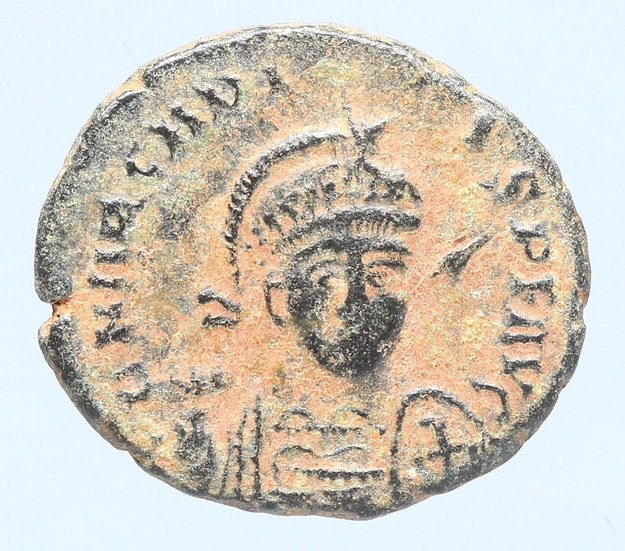 Moeda Romana de Arcádio (383-408).