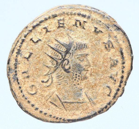 Moeda Romana de Gallienus. 253-268 dC.
