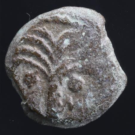 Moeda Judia Bíblica Marcus Ambibulus. 9-12 C.E. Æ prutah.